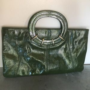 Kate Spade Green Patent Leather Clutch Bag